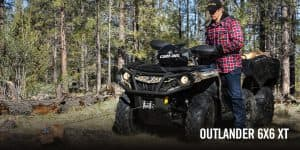 Outlander 6x6 650 DPS With Flat Bed kit