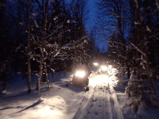 Клубный выезд на снегоходах в Этномир.