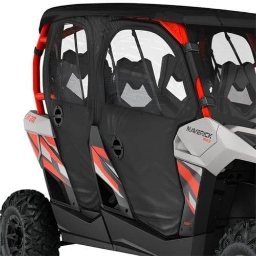 Maverick MAX Soft Doors & Rear Panel - Black