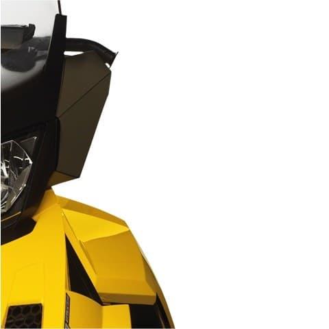 Windshield Side Deflector Kit - Smoke