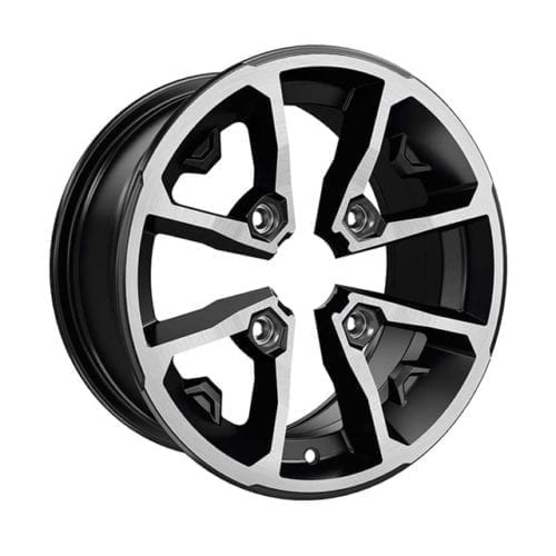 "14"" Rim - Front - Black and machined"