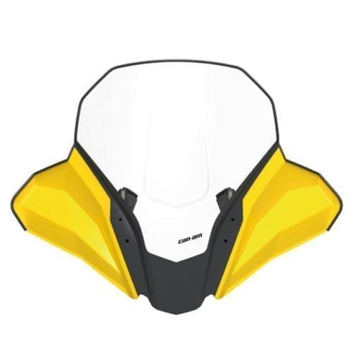 High Windshield Kit Yellow tapered bars КОМПЛЕКТ ВЫСОКОГО ВЕТРОВОГО СТЕКЛА  Желтый