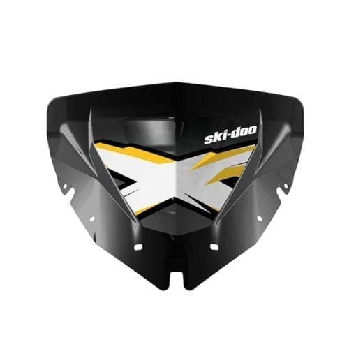 Low Windshield with graphics - Black - White/Yellow X