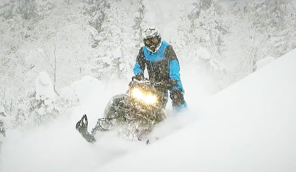 Видео тест-драйв снегохода Линкс Бундокер