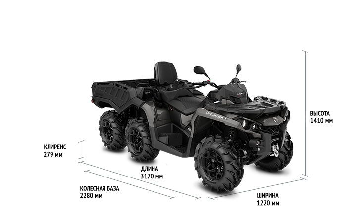 Can-Am Outlander MAX 6x6 650 PRO (2020)