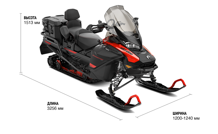Ski-Doo EXPEDITION SE 900 ACE Turbo (650W) ES Studded track VIP 2021