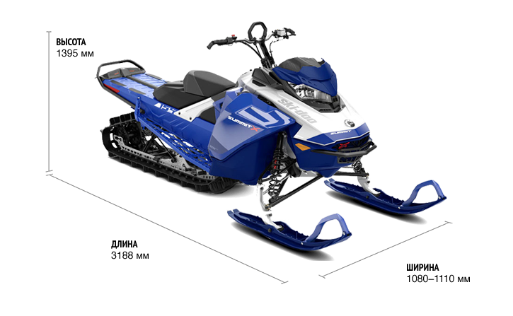 Ski-Doo SUMMIT X 154 850 E-TEC SHOT 2021