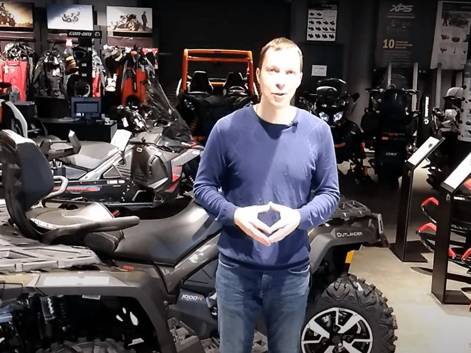 Видео-обзор: отличия квадроцикла 1000 BRP XMR. Чем ХМР лучше XT-P?