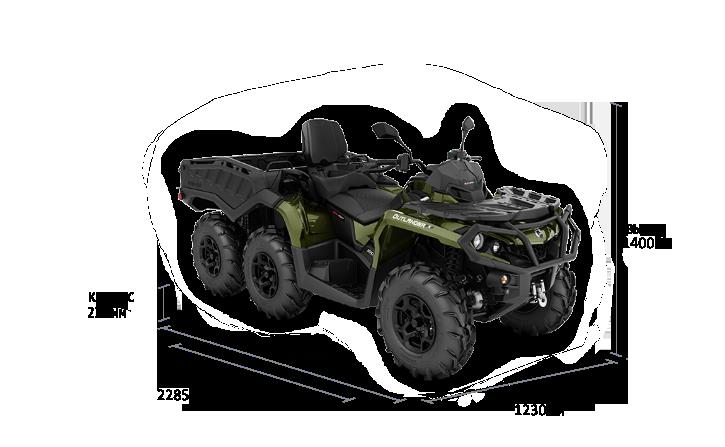 Can-Am OUTLANDER MAX 6X6 XU+ 1000 T 2022