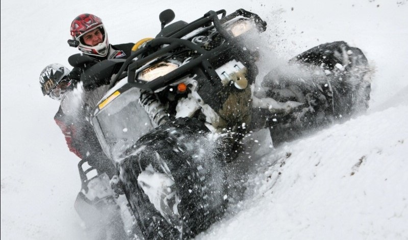 Гусеницы для квадроцикла зимой — Apache Backcountry для BRP